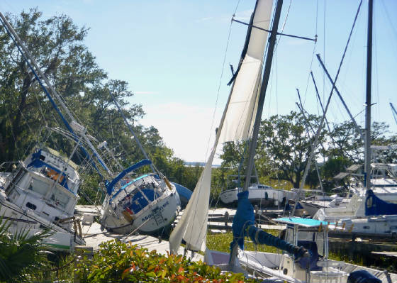 Palmetto Bay Marina Destroyed